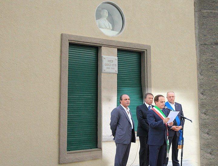 Aielli inaugurazione busto Prefetto Guido Letta