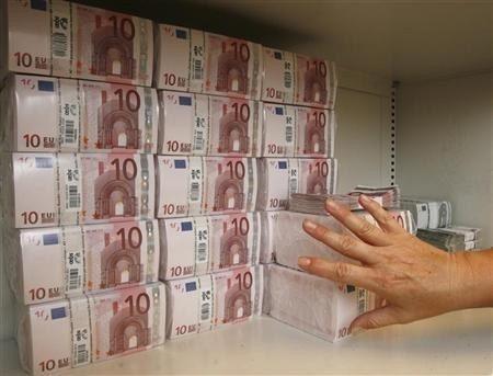 Euro in banca, banconote