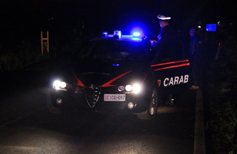 carabinieri, gazzella intervenuta