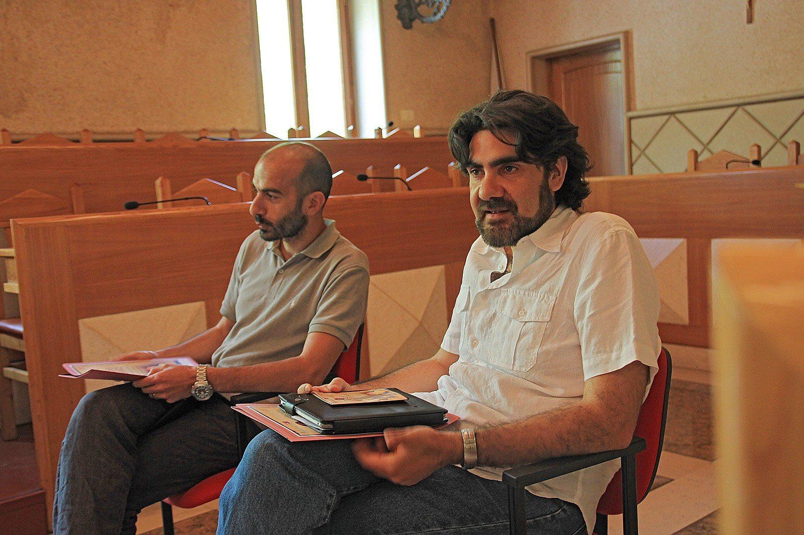 L'assessore Gabriele Venturini e Andrea Buoninfante