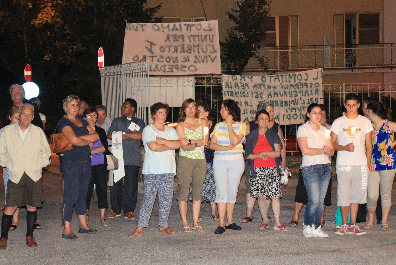 Tagliacozzo, manifestazione a difesa dell'ospedale (10)