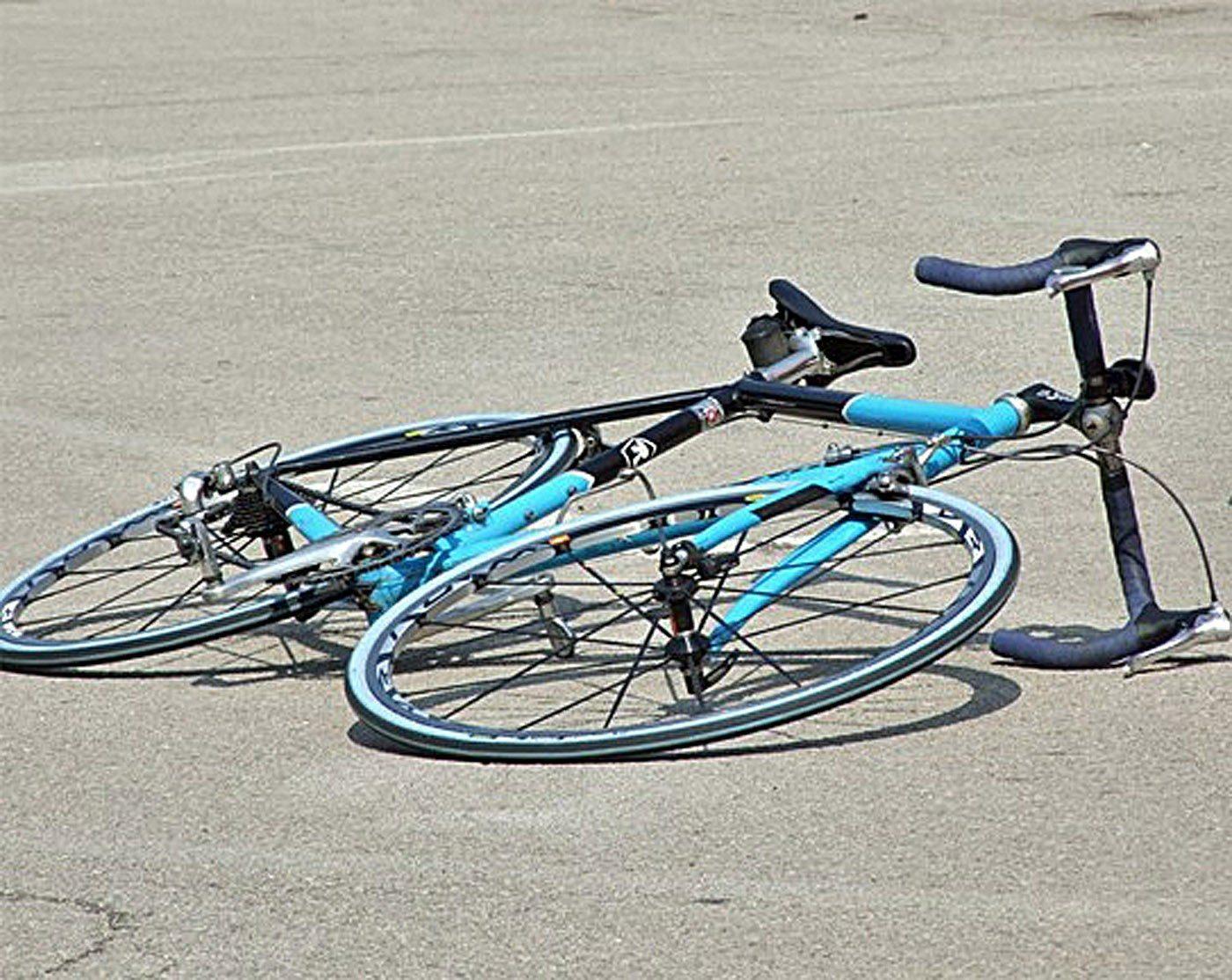 bicicletta a terra