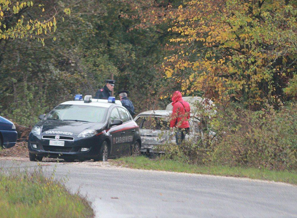Cadavere carbonizzato trovato a Tufo di Carsoli