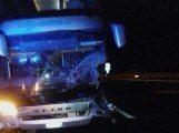 incidente autostrada a24 Bus incidentato 2