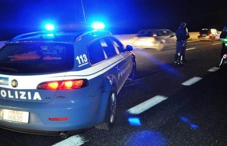 incidente polstrada polizia notte