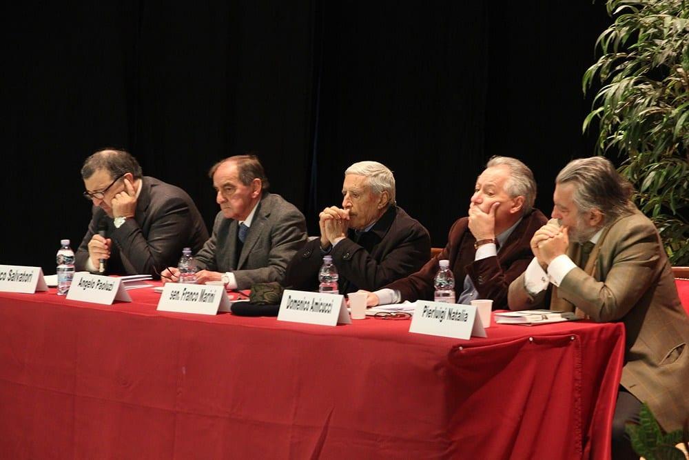 Angelo Paoluzzi, Franco Salvatori, Domenico Amicucci, Pierluigi Natalia e il senatore Franco Marini