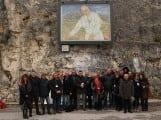 Pietraquaria inaugurazione quaddro papa giovanni paolo II in visita nel fucino  (3)