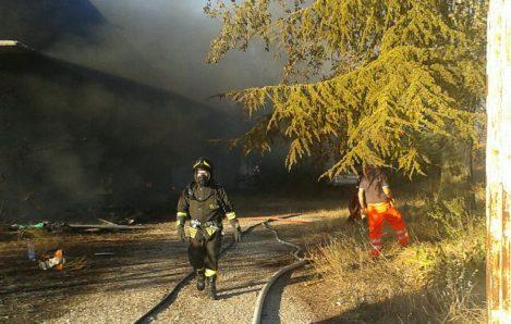 incendio vigili del fuoco Avezzano (1)