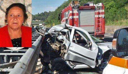 Schianto sull'autostrada A24 contro il guardrail, muore storica commerciante marsicana