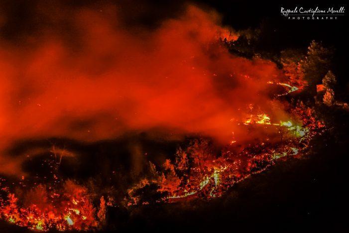 Giorni di incendio a Tagliacozzo, territorio disseminato da roghi di natura dolosa. Scenario Apocalittico