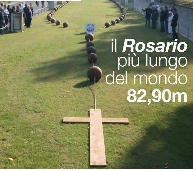 Il Rosario più grande del mondo arriva a Collarmele con l'Unitalsi, attesa in paese