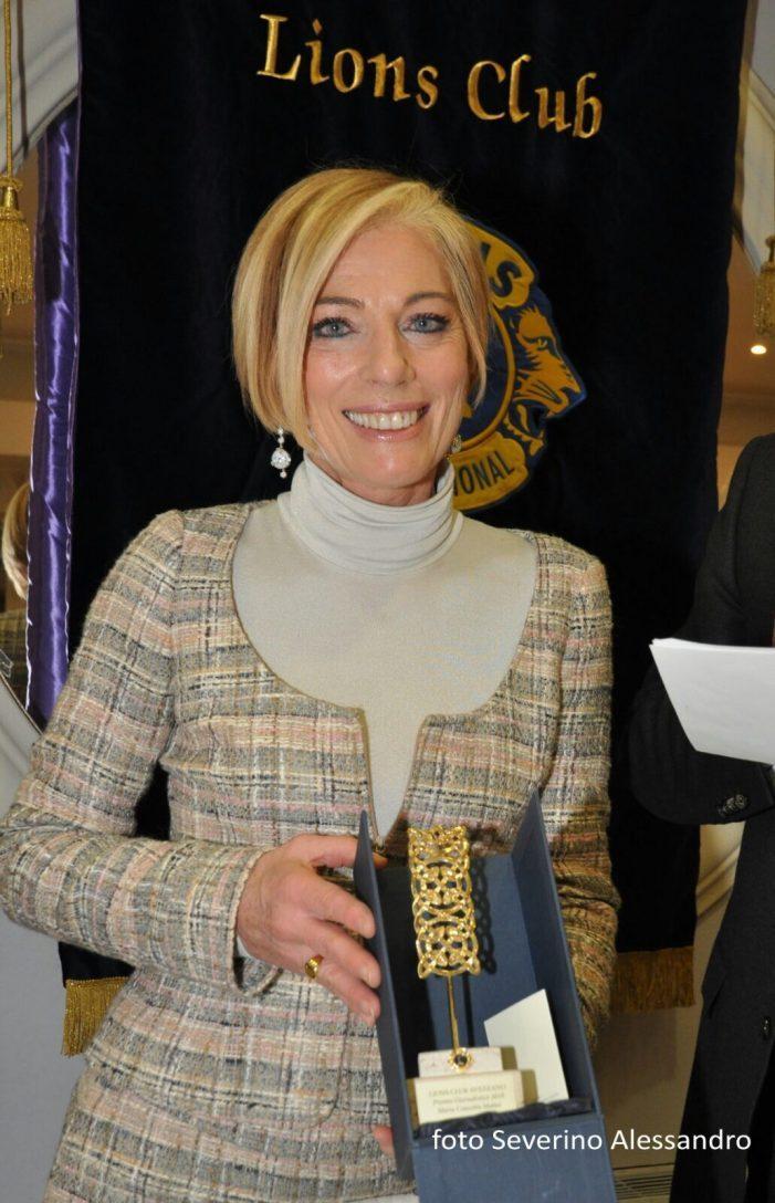 Premio giornalistico del Lions Club a Maria Concetta Mattei, volto del tg2