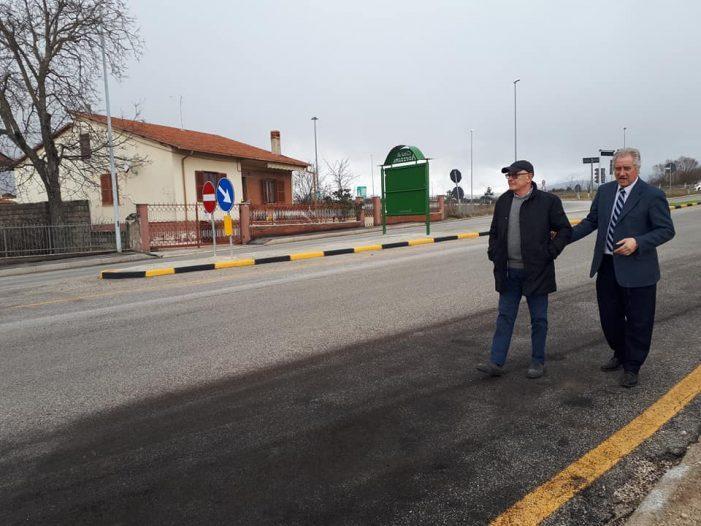 Interventi di riqualificazione in uno degli ingressi alla città reso più sicuro per automobilisti epedoni
