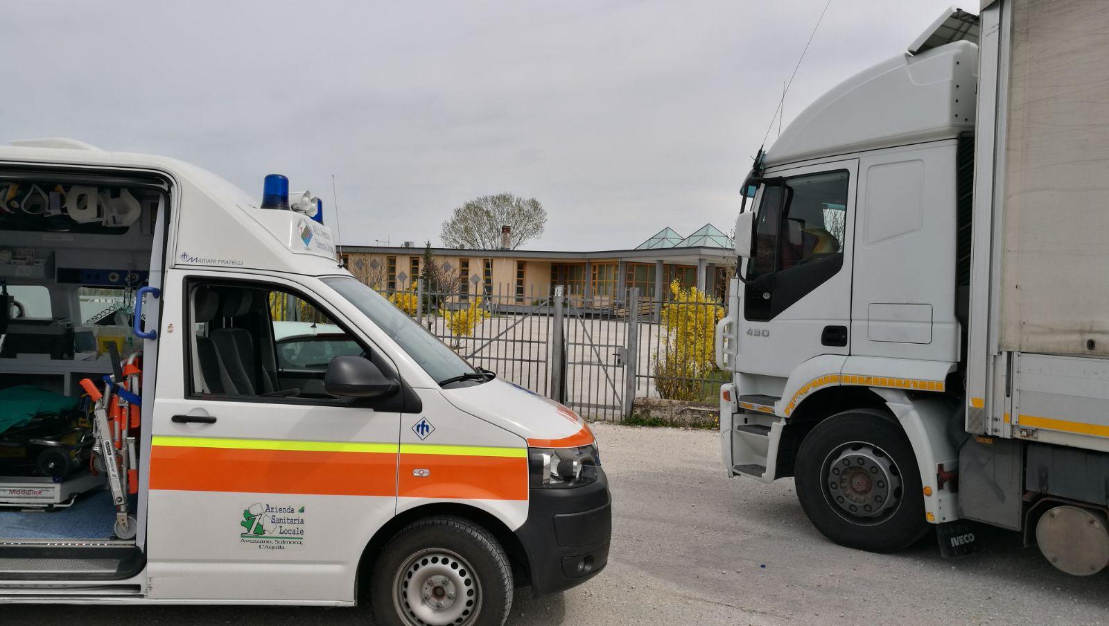 Ambulanza camion aresa servizio avezzano