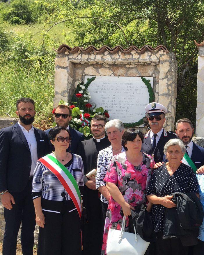Commemorati a Tagliacozzo Angelo e Giuseppe Molle di Roccasecca, uccisi dai nazisti nel 1944